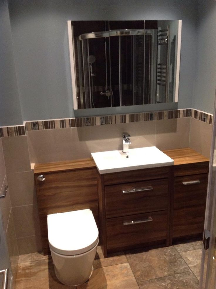 Mark From Lincoln Shows Us How Exquisite A Walnut Cabinets Look In Contrast To White Basin This Customer Bathroom
