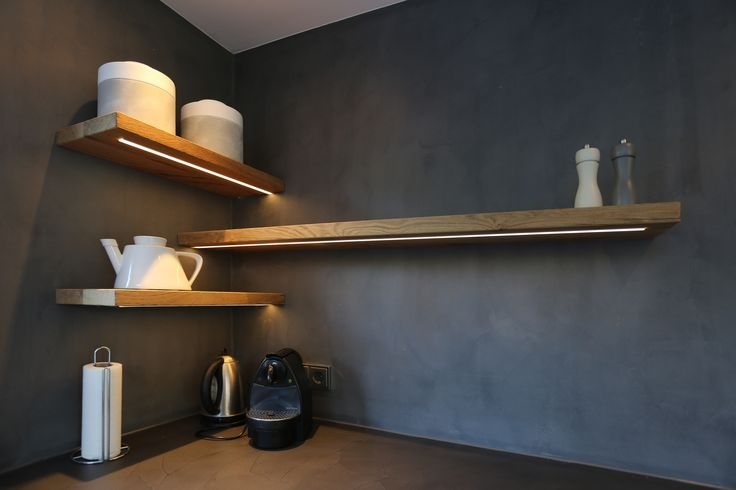 Oud eiken keuken met gesmeerd blad mortex - Ikea kitchenette frigo ...
