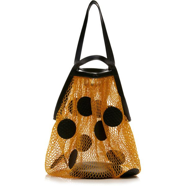 Maison Margiela Polka Dot Net Tote (1 746 610 LBP) ❤ liked on Polyvore featuring bags, handbags, tote bags, maison margiela tote, tote hand bags, handbags totes, handbags tote bags and transparent purse