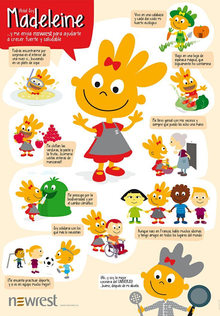 Poster de presentaci n del personaje madeleine para for Canciones para el jardin
