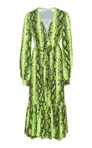 0b7d4db96ed Python Crepe De Chine Wrap Dress by Off-White c o Virgil Abloh SS19 ...