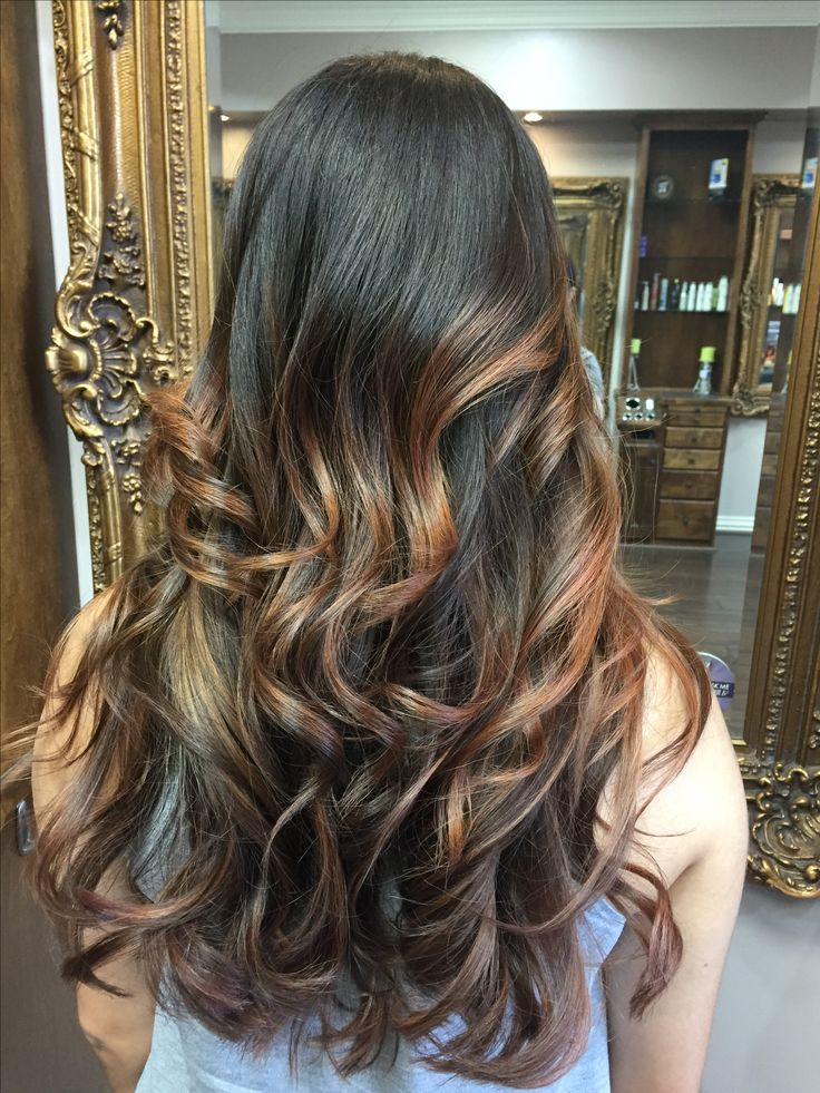 Best 25 Auburn Balayage Ideas On Pinterest