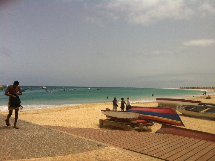 Cape Verde, Near Hotel MoraBeza on the beach on the island of Sal.