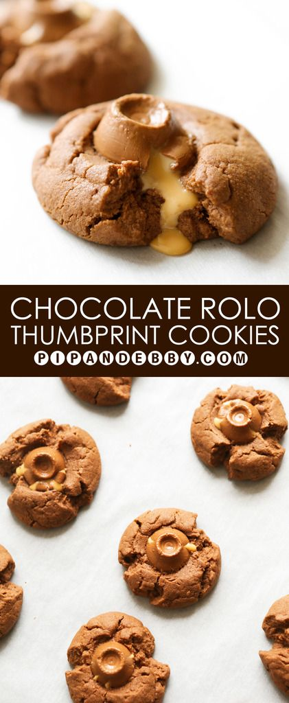 Thumbprint cookies, Rolo and Cookies on Pinterest