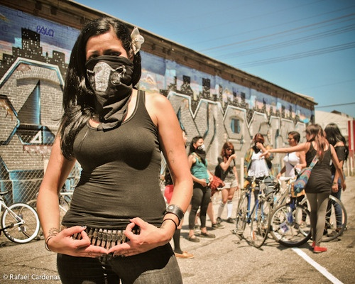 The Ovarian Psycos, an all-grrrl bike gang in LA    a CHICANA all-grrrl bike gang in EAST la