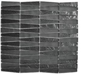 "Chicago, glass mosaics, black - 12"" x 12"" - Trapezoide"