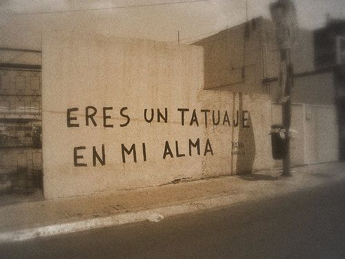 Eres un tatuaje en mi alma #accionpoetica