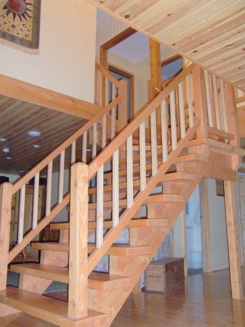 Open riser stairs in cottage wwwgregbrownconstructioncom  Stairs  Pinterest  Stairs House