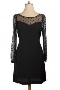 Sweetheart Dress, $219. Available in Black Spot, Black Floral and Mustard.  #winterdresses #littleblackdress #nzdesigner #winterstyles