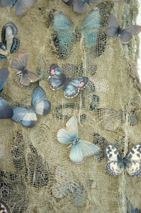 Beautiful butterflies ~ would be a fab embroidery.
