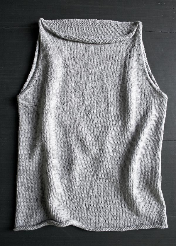 Laura's Loop: Tulip Tank Top - Purl Soho - Knitting Crochet Sewing Embroidery Crafts Patterns and Ideas!