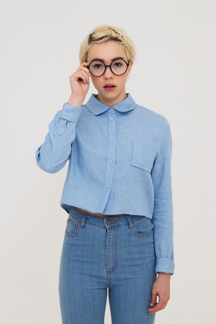 Long Sleeve Crop Shirt Denim http://www.thewhitepepper.com/products/long-sleeve-crop-shirt-denim TWP High Waist Skinny Jean Blue http://www.thewhitepepper.com/products/twp-high-waist-skinny-jean-blue-1