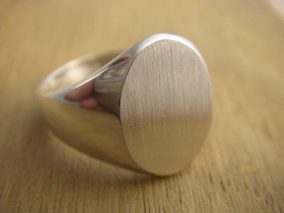 Sterling Silver Men's Signet ring by CustomMonogramsbyDan on Etsy