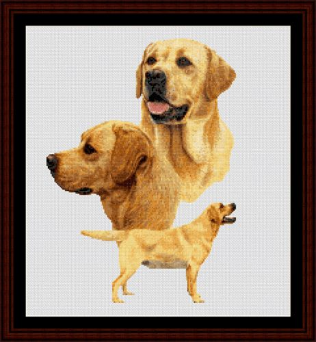 Labradors - Cross Stitch Collectibles fine art counted cross stitch pattern