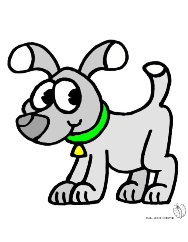 Disegno di Cane con Collare a colori per bambini gratis - disegnidacolorareonline.com