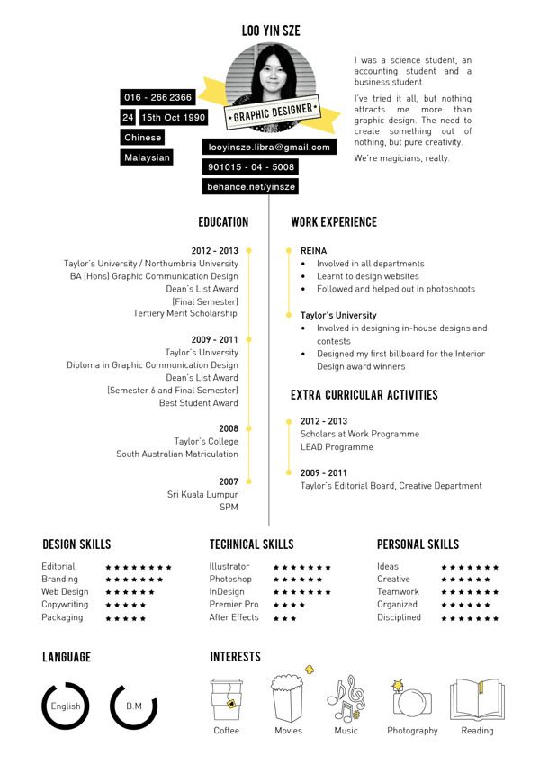 7 best Design - CV images on Pinterest Resume, Resume templates - resume for scholarship