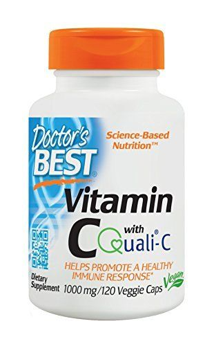 """Vitamin C is a key compound in the body's """"antioxidant network,"""" a chain of synergistic, inextricability linked, well-studied antioxidants that includes glutathione (GSH) and vitamin E. When vitamin E uses its antioxidant function in neutralizing free radicals, it also loses this antioxidant func... more details at http://supplements.occupationalhealthandsafetyprofessionals.com/vitamins/vitamin-c/c-complex/product-review-for-doctors-best-vitamin-c-with-quali-c-1000-mg-n"""