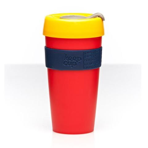KeepCup Reusable Coffee Cup - Crackle (large). Perfect for standing by soccer sidelines on cold mornings too!