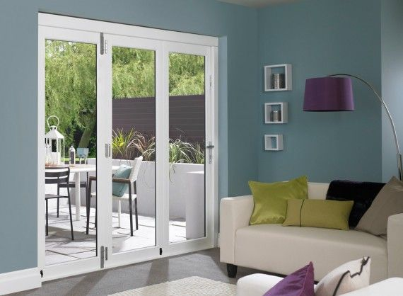 Closed Master External Folding Doors 2.4M (8ft) Pre-Finished White Set from Vufold