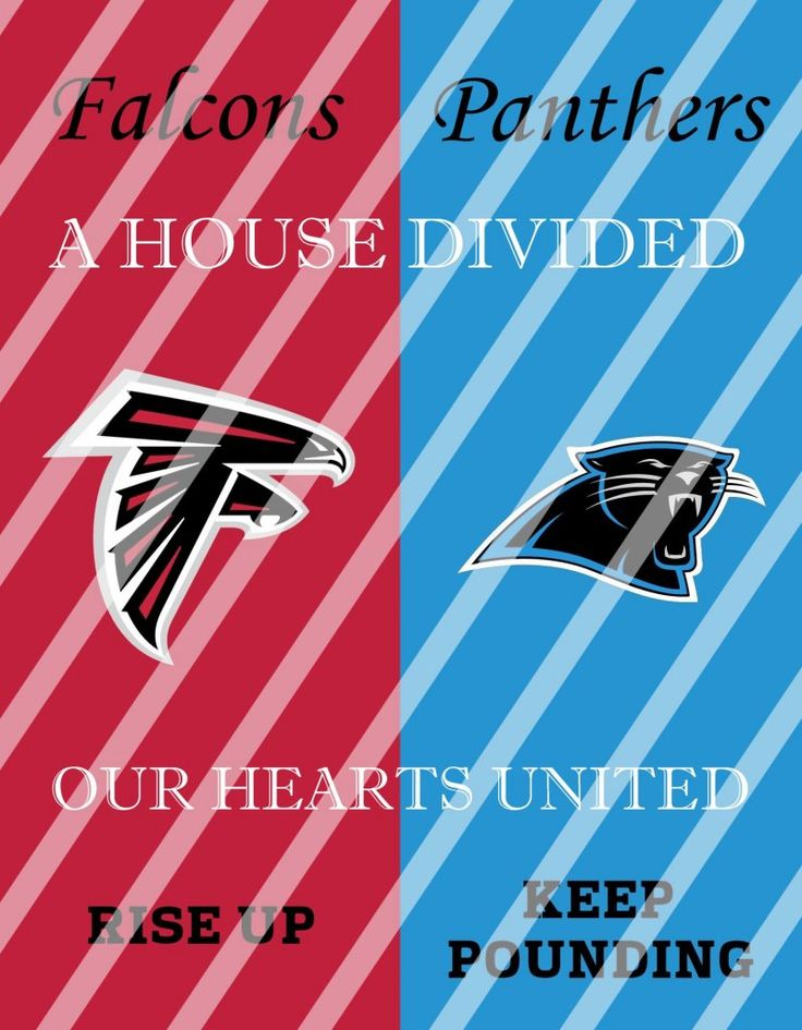 Falcons Panthers House Divided Wall Decor Sign (instant download,print,framed)