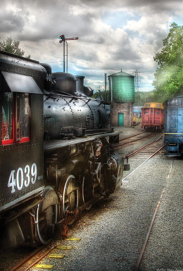 Train Photograph Train Engine 4039 In The Train Yard By Mike Savad In 2020 Train Engines Train Train Art