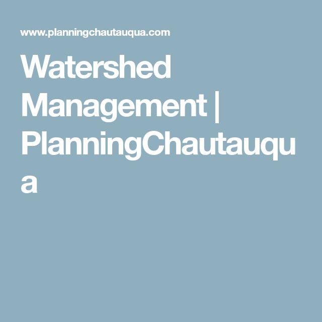 Watershed Management   PlanningChautauqua