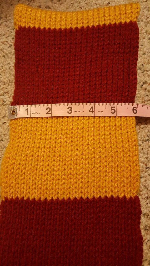 Harry Potter Gryffindor bufanda por JustDarlinStitches en Etsy