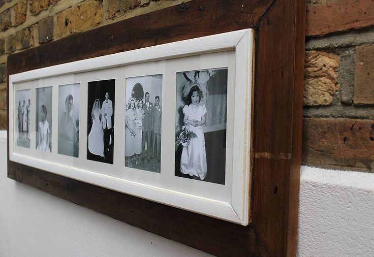 Reclaimed Wooden Multi Aperture Photo Frame from notonthehighstreet.com