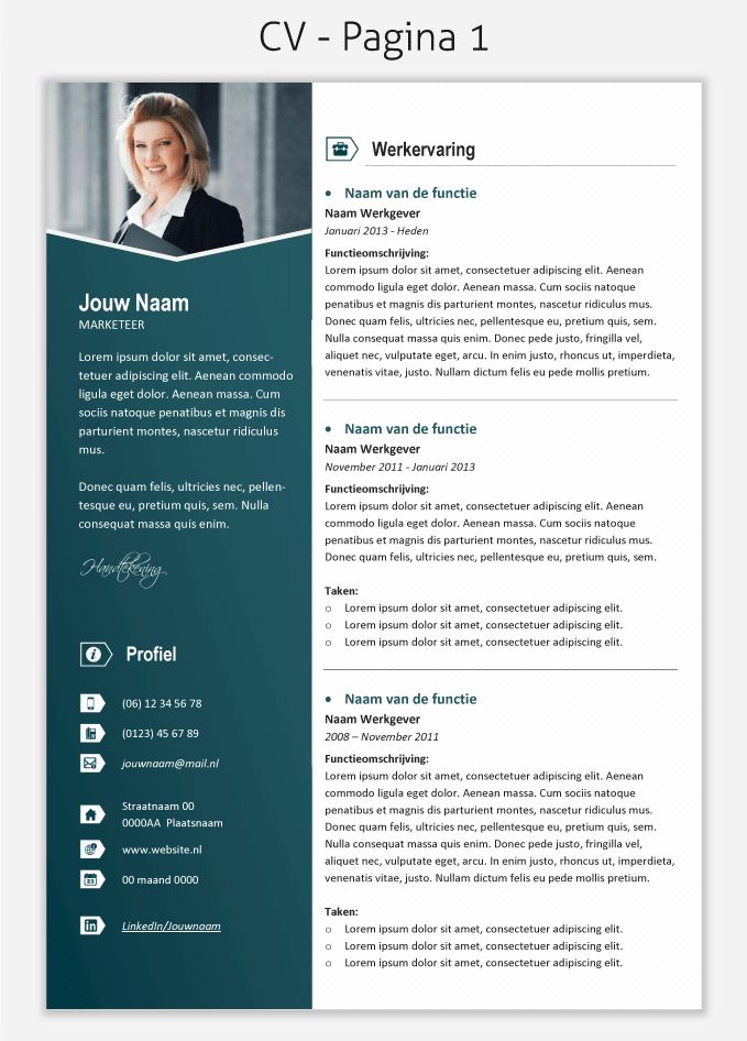 CV template 2028 om te downloaden