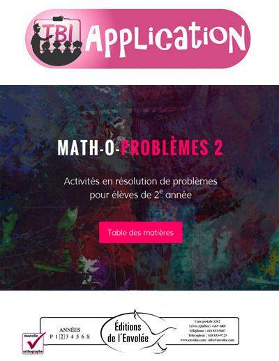 Cette application exerce la résolution de problèmes en mathématique. Elle permet à l'élève de travailler des opérations simples ainsi que des problèmes à plusieurs étapes ou à plus d'une opération.