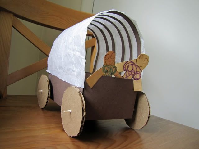covered wagon craft - this would be fun to go along with our Little House book series