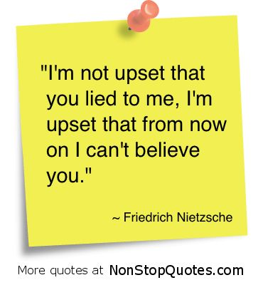 Quote on lying