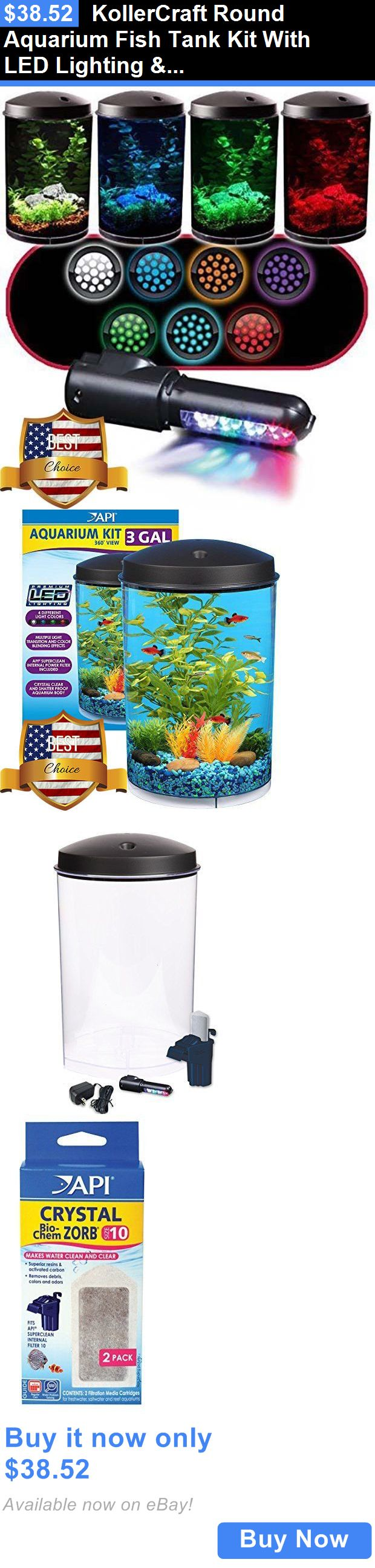 Animals Fish And Aquariums: Kollercraft Round Aquarium Fish Tank Kit With Led Lighting And Filter 3 Gallon New BUY IT NOW ONLY: $38.52