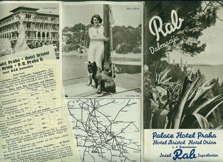 Alter Reiseprospekt Insel Rab Dalmatien 1935 Hotel Bristol Praha Orion Fotos  in Antiquitäten & Kunst, Antiquarische Bücher | eBay!