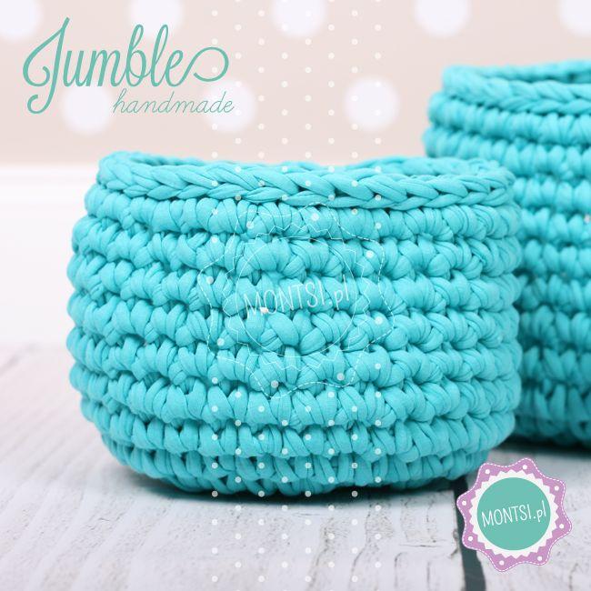 zestaw trzech koszyków Jumble- ręcznie robione - handmade - crochet - www.facebook.com/... - Photo: www.MONTSI.pl