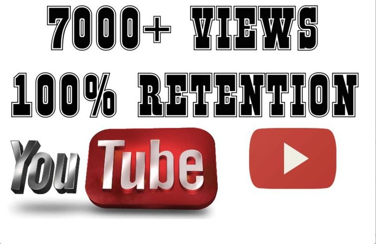 Give you 7000 - 7500 high retention non drip views for your video
