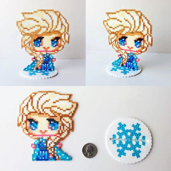 Hey, I found this really awesome Etsy listing at https://www.etsy.com/listing/194181094/mini-hama-perler-bead-toy-figure-elsa
