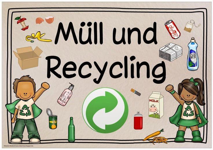 """Fotos etc. zum Thema """"Müll und Recycling"""" Momentan beschäftigen wir uns im Sachunterricht ja mit dem Thema """"Müll und Recycling"""". Dazu hab..."""