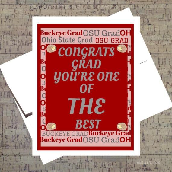 Funny Graduation Card Ohio State Card Congrats by WhatACardCards