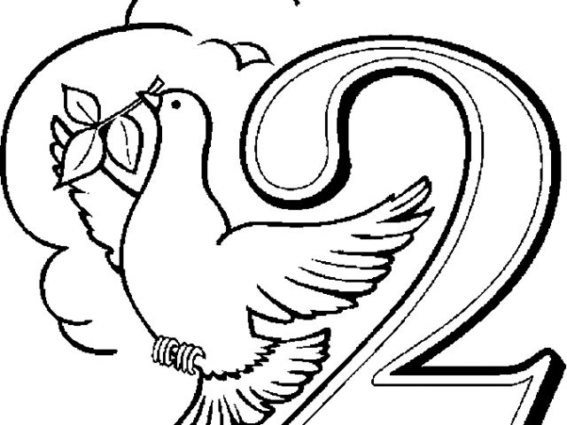02 Turtle Doves Christmas Coloring Pages Twelve Days Of Christmas 12 Days Of Christmas