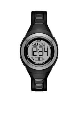 Skechers Black Womens Tennyson Black Silicon Digital Watch
