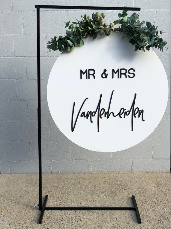 PACKAGE DEAL, 3D sign and black metal stand pack. Wedding Sign, Sign, Stand, business Sign, Event sign, welcome sign, easel