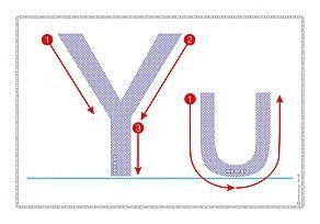 """Εκτύπωση φύλλου δραστηριότηρας με θέμα """"Πώς γράφεται το γράμμα Υ,υ""""."""