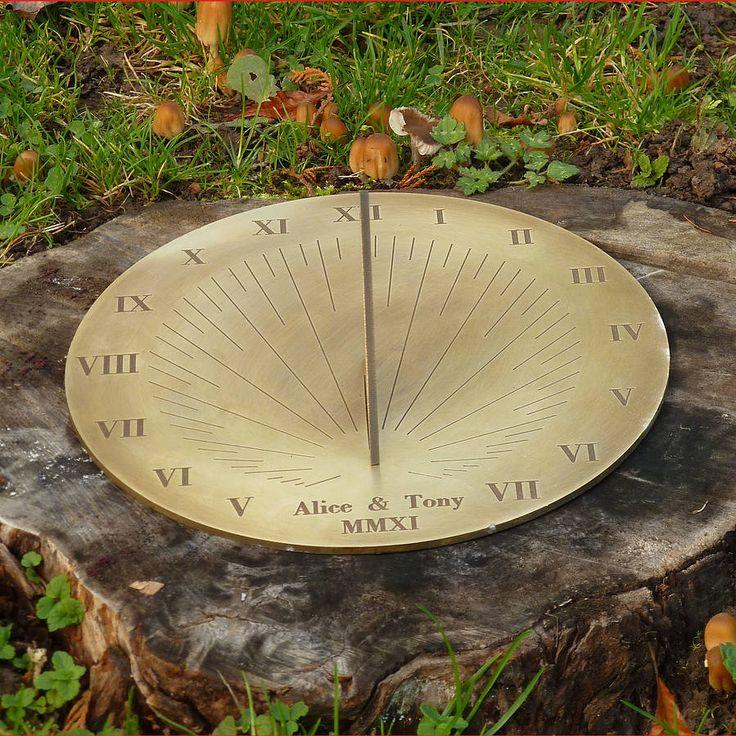 Personalised Galileo Brass Sundial