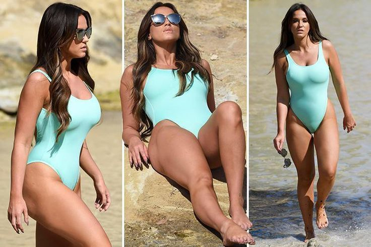 Vicky Pattison is a corker in Majorca as she models neon-blue swimsuit for photoshoot