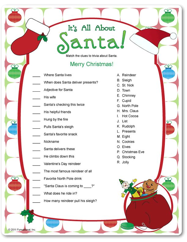This is a photo of Smart Printable Christmas Games for Kids