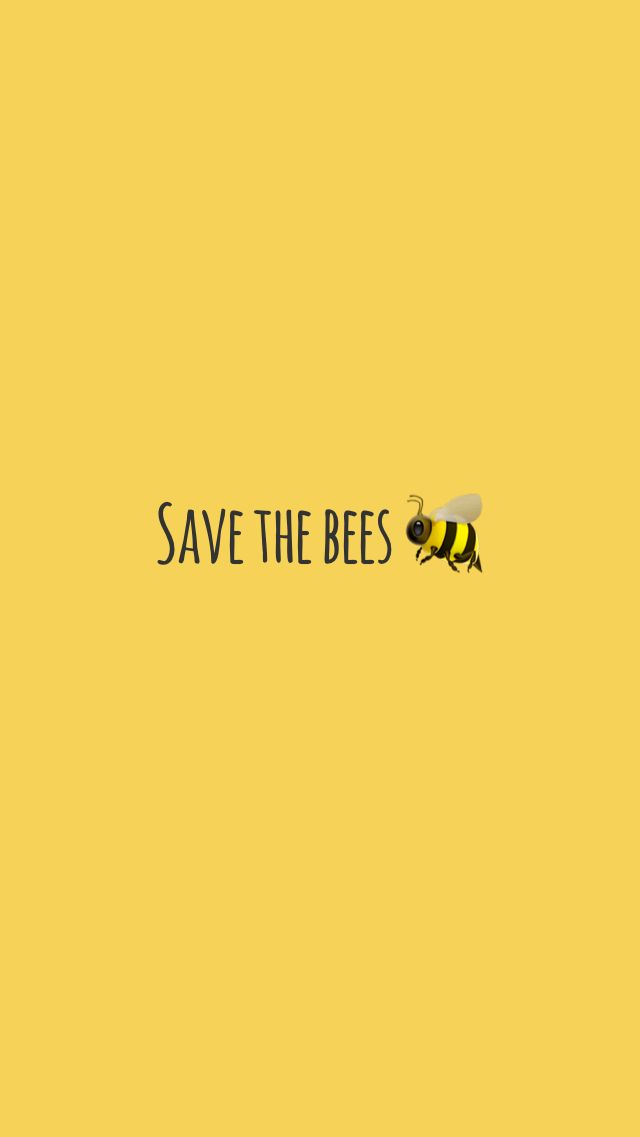 Yellow, save the bees wallpaper 🐝 (With images) Pretty