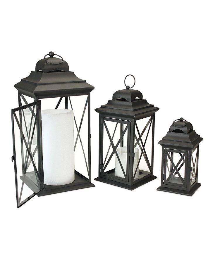 Black Cross Lantern Set | Home Decor | Pinterest | Decor