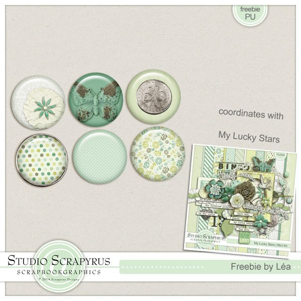 Freebie coordinating with My Lucky Stars. Grab them on the Scrapyrus Designs Blog