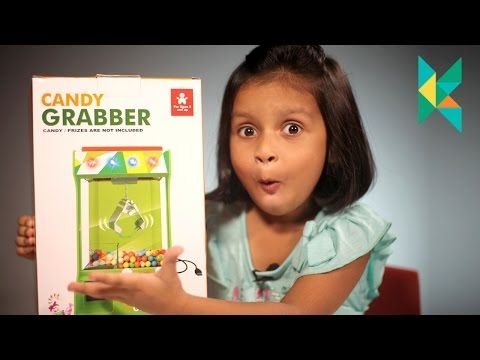 Candy Grabber Challenge Toy : Machine Replica Toy : kyrascope playing challenges…